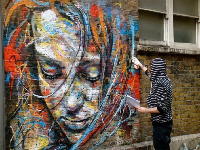 Retratos grafiti por David Walker (10)