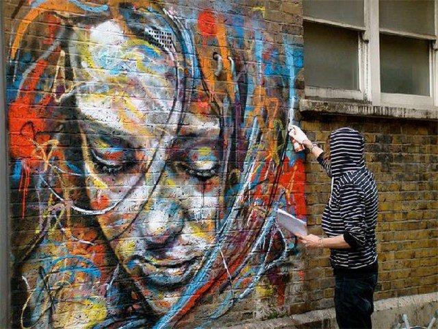 Retratos grafiti por David Walker (10)