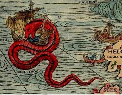 Monstruos Marinos (4) serpiente marina ataca