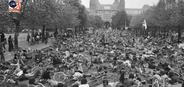 protesta bicicletas amsterdam