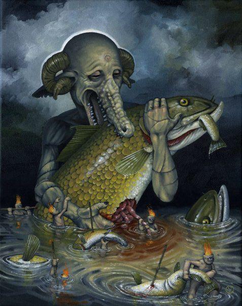 Pinturas Jeff Christensen surrealismo Hambre (8)