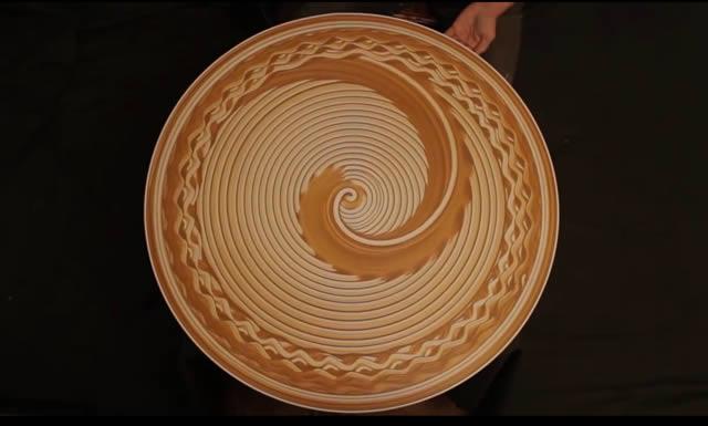 mosaicos creados en una rueda de alfarero