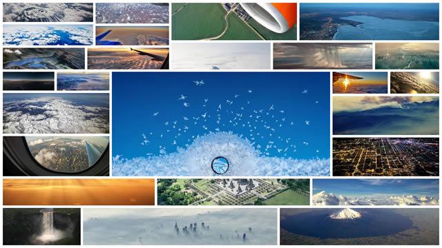 paisajes desde la ventana de avion