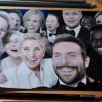 Dibujando la selfie de los Oscars