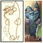 Perturbadores y realistas dibujos de niños