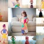 Niña de 4 años diseña vestidos de papel y se convierte en un éxito en Internet