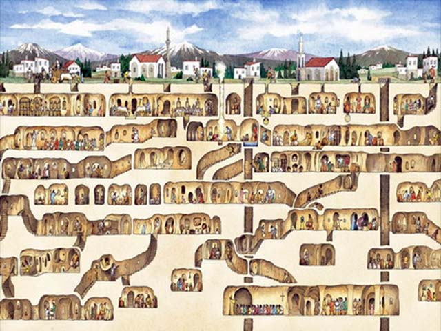 ciudad subterránea en Derinkuyu (2)