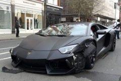 Lamborghini Aventador se accidenta