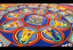 Monjes Tibetanos obra maestra granos arena mandala (10)