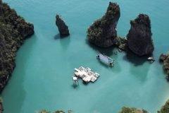 Sensacional cine flotante en Tailandia