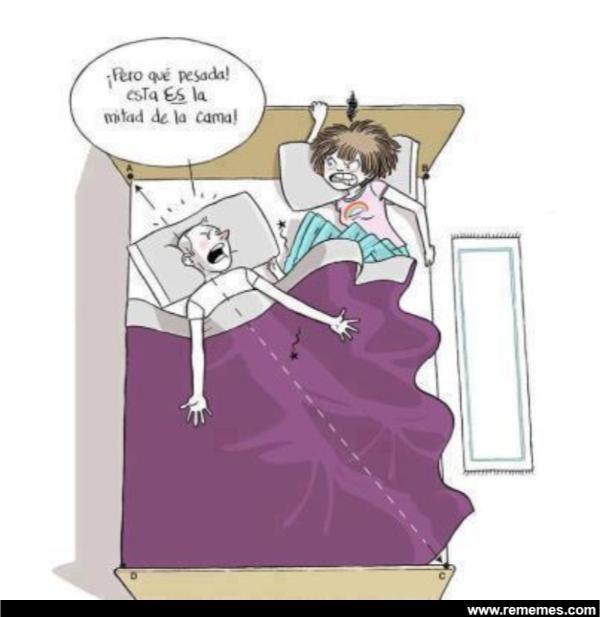 humor pareja dormida
