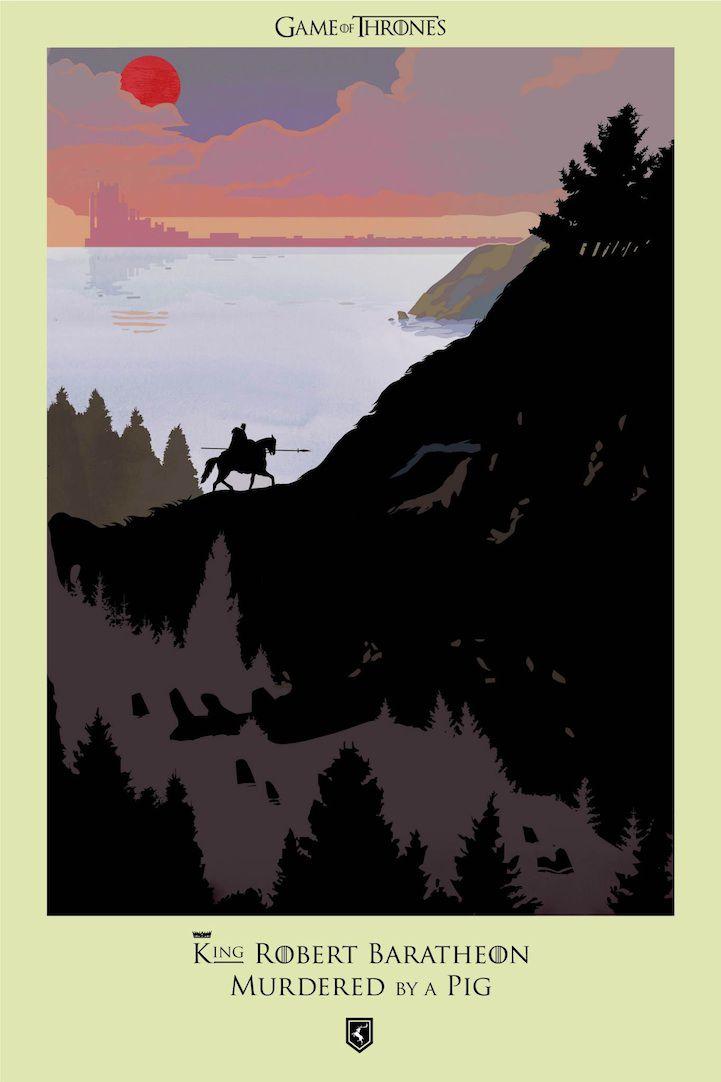 Ilustraciones muertes Game Of Thrones (1)