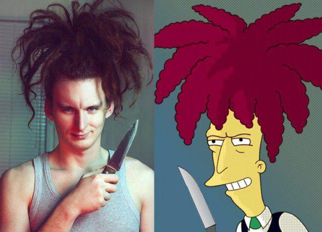 Personajes Simpson en la vida real (15)