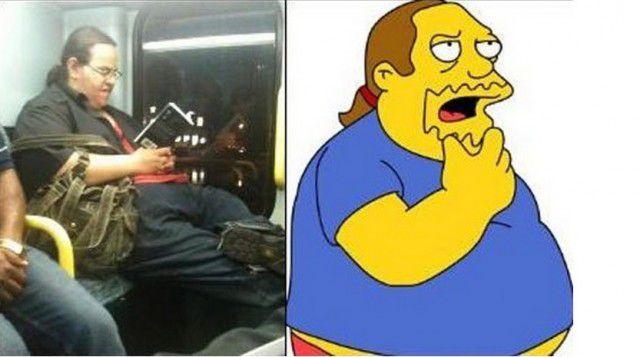 Personajes Simpson en la vida real (2)
