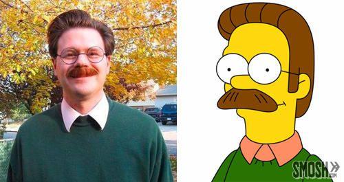 Personajes Simpson en la vida real (5)