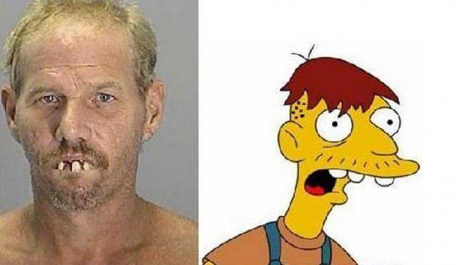 Personajes Simpson en la vida real (4)
