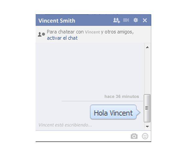 vincent está escribiendo