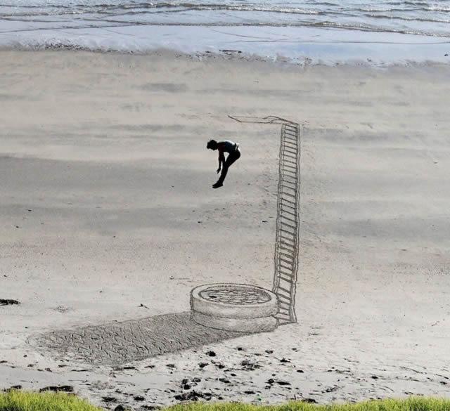 Dibujos en 3D sobre arena (6)