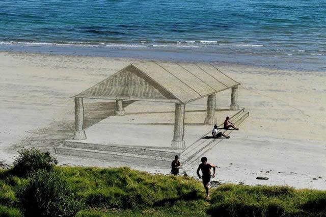 Dibujos en 3D sobre arena (4)