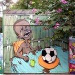 Arte urbano, la primera imagen viral del Mundial de Fútbol 2014