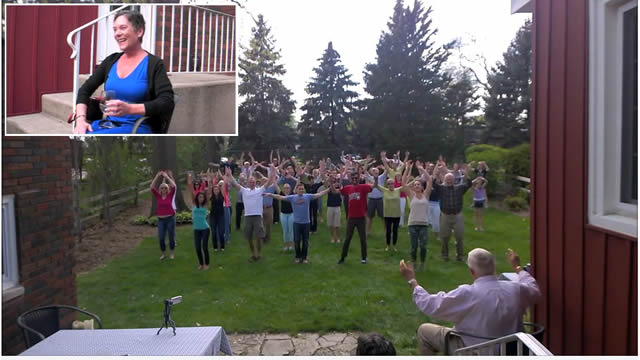 Mujer con cáncer terminal recibe como regalo un flashmob increíble