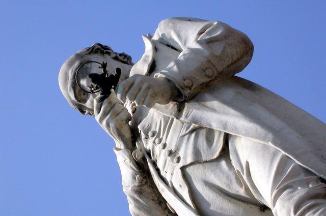 estatua Spallanzani Scandiano, Italia,