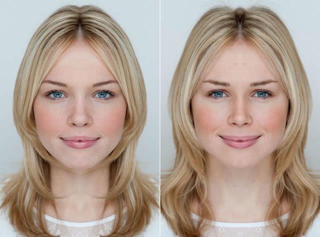 Resultado de imagen de La simetría de las caras de de los humanos
