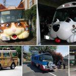 Adorables autobuses escolares en Japón