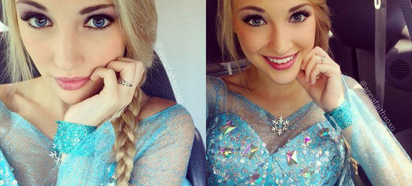 Anna Faith es Elsa Fronzen (1)