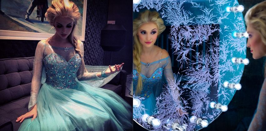 Anna Faith es Elsa Fronzen (2)