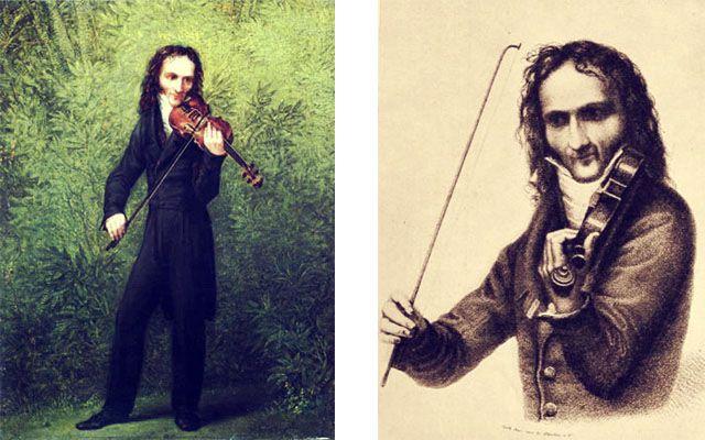 Niccolò Paganini retratos