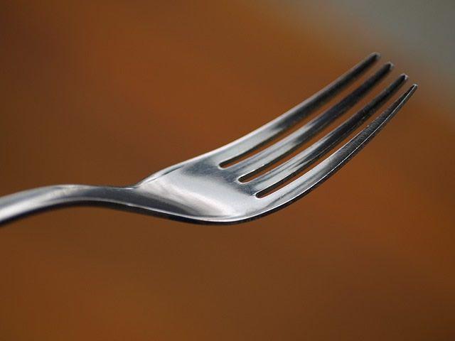tenedor comida