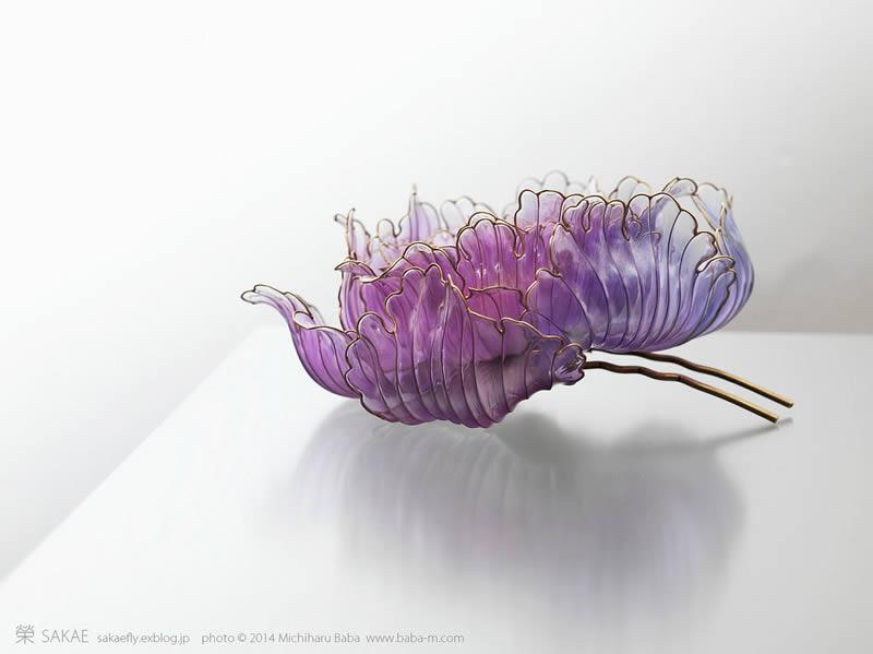 Kanzashi prendedores para el cabello artesanales (14)