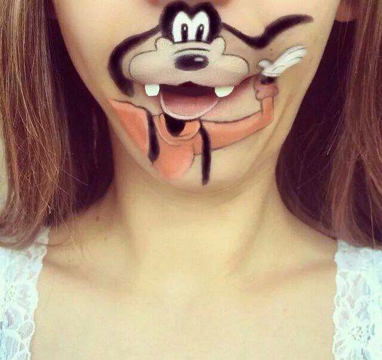 Maquillaje boca dibujos animados (3)