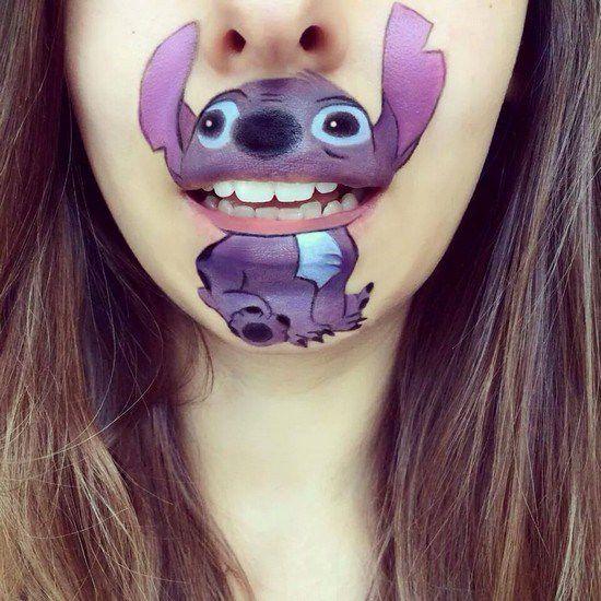 Maquillaje boca dibujos animados (9)