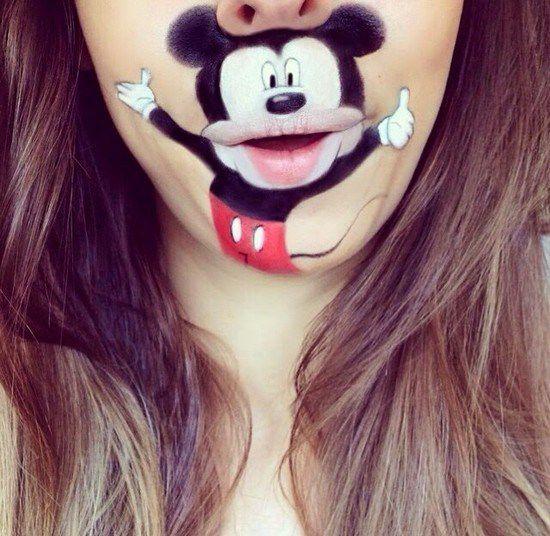 Maquillaje boca dibujos animados (6)