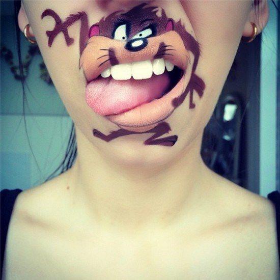 Maquillaje boca dibujos animados (1)