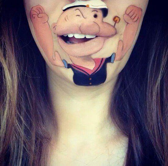 Maquillaje boca dibujos animados (14)