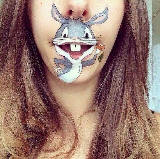 Maquillaje boca dibujos animados (13)