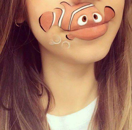 Maquillaje boca dibujos animados (12)
