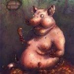 cerdo feliz