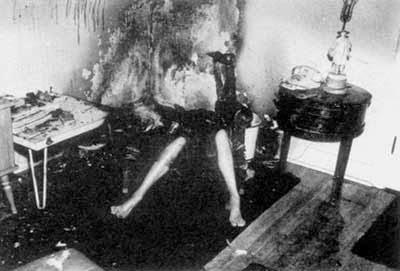 combustion espontanea foto archivo