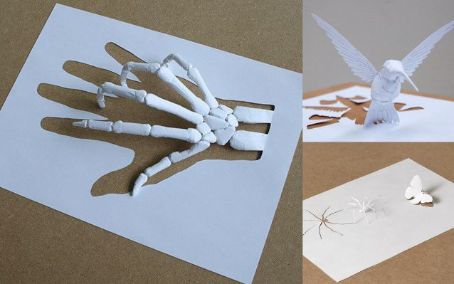 esculturas papel