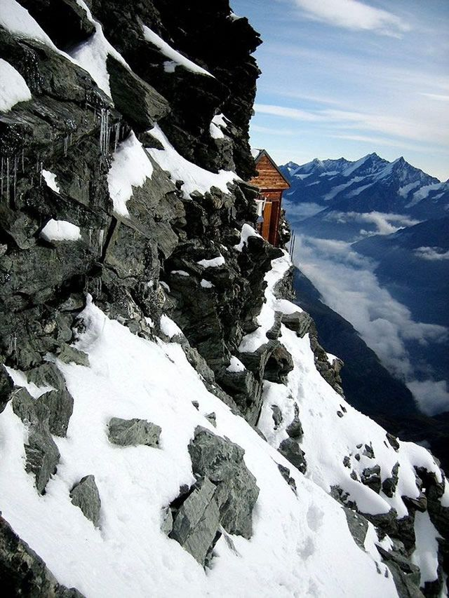 Cabaña Solvay alpes suizos