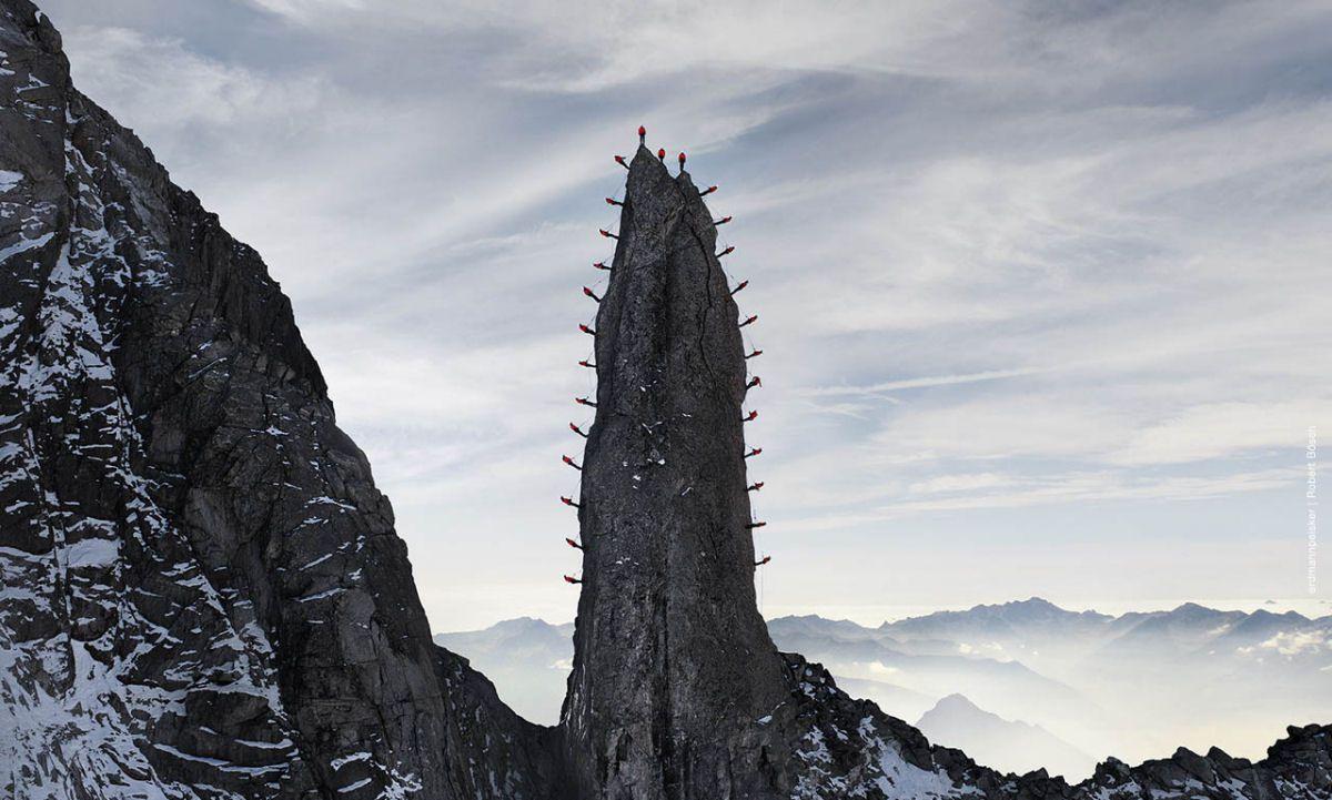 Mammut escaladores fotografía alpes suizos (10)