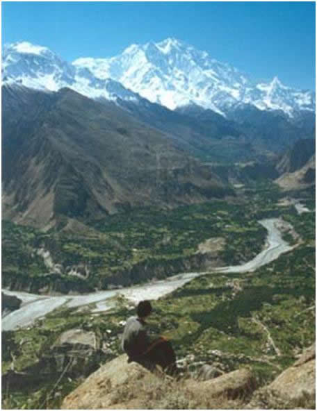 valle del unza vista aerea
