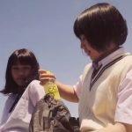 Estudiantes japonesas muestran sus habilidades ninja