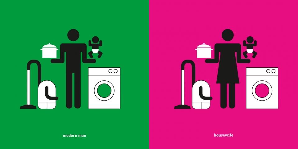 Yang Liu ilustraciones estereotipos hombres y mujeres (6)