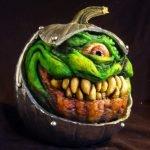 Esculturas aterradoras hechas en calabazas