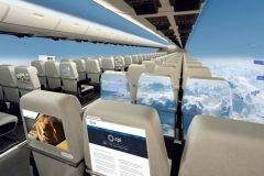 Aviones sin ventanas podrían ofrecer vista panorámica del cielo a sus pasajeros
